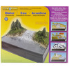 Water - Diorama Kit Woodland Scenics-Diorama Kit: Water. The perfect start to creating any type of water-focused dioramas or display. Model an ocean, waterfall, river, the workings of a watermill or rainforest deforestation. This 9-1/2x11-1/4x3 inch package contains one bag of talus, one bag of green grass, one bag of evergreen accent, one bag of forest green accent, one plaster cloth, foliage fiber material, shrub material, two side panels, one spray bottle, one release paper, one 1oz bottle of project glue, one 2oz jar of realistic water, one 0.5oz jar of water effects, one 0.5oz jar of earth undercoat, one 0.5oz jar of water undercoat, one plastic cup and shifter lid, one foam brush, one stir stick and instructions. Recommended for ages 7 and up. WARNING: Choking Hazard-small parts. Not for children under 3 years. Conforms to ASTM D 4236. Made in USA.