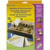 Buildings & Structures - Diorama Kit WOODLAND SCENICS-Buildings & Structures Kit. This versatile kit is great for creating those unique buildings for a diorama. This package contains one project cloth, twenty-four project sticks, 36 inches of project wire, 1 fl oz of project glue, one clear plastic transparent sheet, one white plastic transparent sheet, instructions, two project boards, one ribbed board, one black paper, one construction board. For 7 years and up. WARNING: Sharp objects! Choking hazard! Small parts. Not intended for children under 3 years. Adult supervision required. Made in USA.