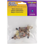 "Native Americans approx 1.5"" 5/pkg - Scene Setters(R) Figurines"