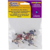 Revolutionary War Soldiers 5/Pkg - Scene Setters(R) Figurines