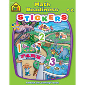 Math Readiness Grades P-K - Sticker Workbook