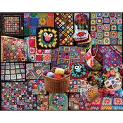 "Granny Squares - Jigsaw Puzzle 1000 Pieces 24""X30"""
