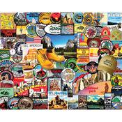 """National Park Badges - Jigsaw Puzzle 1000 Pieces 24""""X30"""""""