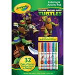 Teenage Mutant Ninja Turtles - Crayola Coloring And Activity Pad W/Markers