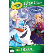 "Frozen - Crayola Giant Disney Coloring Book 12.75""X19-7/16"" 18pg"
