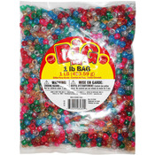Assorted Colors - Glitter Pony Beads 9mm 1lb Bag
