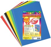 "Basic Colors - Sticky Back Foam Sheets 9""X12"" 12/Pkg"