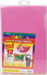 "Bright Colors - Foam Sheets 12""X18"" 12/Pkg"