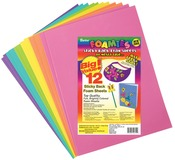 """Bright Colors - Sticky Back Foam Sheets 9""""X12"""" 12/Pkg"""