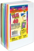 "Assorted Colors - Sticky Back Foam Sheets Value Pack 6""X9"" 40/Pkg"