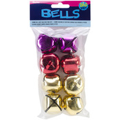 Gold/Red/Pink - Jingle Bells 35mm 8/Pkg