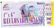 "4""X6"" - Reclosable Plastic Bags 300/Pkg"