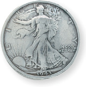 "Liberty Half Dollar - Concho Screwback 1.1875"" Silver 1/Pkg"