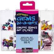 Assorted Multi - Gems In A Box 300/Pkg