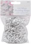 "Silver - Wedding Rings .75"" 144/Pkg"