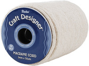Natural Cotton - Macrame Cord 3mm 32 Ply 50yd/Spool