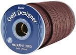 Brown Poly - Macrame Cord 3mm 32 Ply 50yd/Spool
