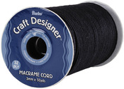 Black - Macrame Cord 3mm 32 Ply 50yd/Spool
