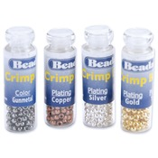 Silver/Gold/Copper/Black Plated - Crimp Beads Variety Pack Size #1 600/Pkg