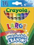 16/Pkg - Crayola Large Washable Crayons