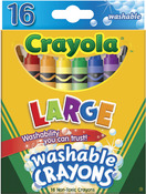 16/Pkg - Crayola Large Washable Crayons