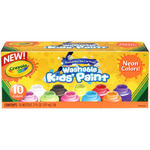 Crayola Washable Neon Paint 2oz 10/Pkg