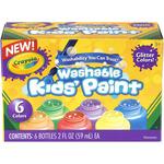 Crayola Washable Glitter Paint 2oz 6/Pkg