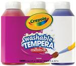 Crayola Artista II Washable Tempera Paint 8oz 3/Pkg - Primary Colors Yellow, Blu