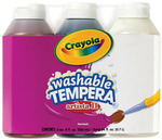 Crayola Artista II Washable Tempera Paint 8oz 3/Pkg - Neutral Colors Black, Brow