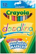 12/Pkg - Crayola Doodling Washable Markers