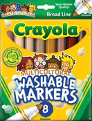 Multicultural 8/Pkg - Crayola Broad Line Washable Markers