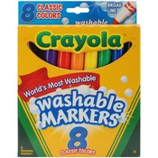 Classic Colors 8/Pkg - Crayola Broad Line Washable Markers