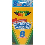 Classic Colors 8/Pkg - Crayola Fine Line Washable Markers