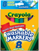Bright Colors 8/Pkg - Crayola Broad Line Washable Markers