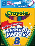 Bold Colors 8/Pkg - Crayola Broad Line Washable Markers