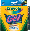 8/Pkg - Crayola Gel Washable Markers CRAYOLA-Gel Washable Markers in 8 colors. Create cool effects on black, dark and white paper! Great colors for drawing and doodling! You can also use washable GEL markers on glossy paper, poster boards, wrapping paper and more! These washable markers are formulated to easily wash from skin and most children's clothing. Non-toxic. Conforms to ASTM D4236. Made in USA.