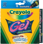 8/Pkg - Crayola Gel Washable Markers