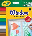 8/Pkg - Crayola Washable Window Markers
