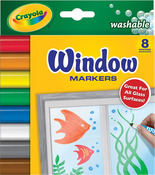 8/Pkg - Crayola Washable Window Markers