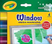 4/Pkg - Crayola Washable Window Mega Markers