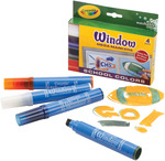 School Colors 4/Pkg - Crayola Washable Window Mega Markers