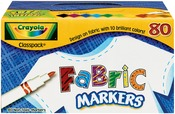 80/Pkg - Crayola Fabric Markers