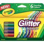 Crayola Glitter Markers 6/Pkg