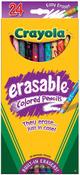 24/Pkg Long - Crayola Erasable Colored Pencils