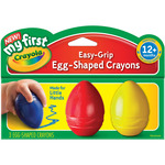 Blue, Red And Yellow - My First Crayola Easy Grip Egg Shaped Crayons 3pc
