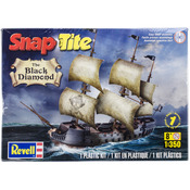 Black Diamond Pirate Ship 1:350 - SnapTite Plastic Model Kit