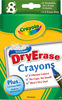 Crayola Dry-Erase Crayons, 8/Pkg CRAYOLA-Dry-Erase Crayons. Easily wipes off dry erase surfaces! Washes clean from hands and clothes. No odor, no caps to lose, and won't dry out. Package includes: built-in sharpener, E-Z erase mitt, eight washable dry-erase crayons. Nontoxic. Conforms to ASTM D4236. Recommended for children 4 and up. WARNING: CHOKING HAZARD-Small Parts. Not for children under 3 years. Imported.