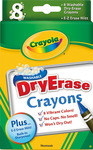 Crayola Dry-Erase Crayons, 8/Pkg