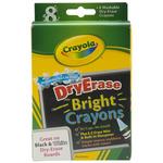 8/Pkg - Crayola Bright Dry-Erase Crayons