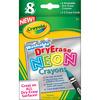 Crayola Dry Erase Neon Crayons 8/Pkg
